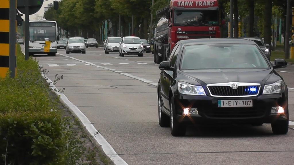 Один з сотень непозначених патрульних автомобілів в Бельгії